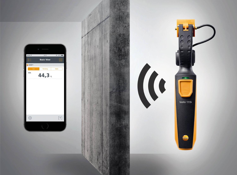 Testo 115i - Termômetro de Pinça Operado Via Smartphone