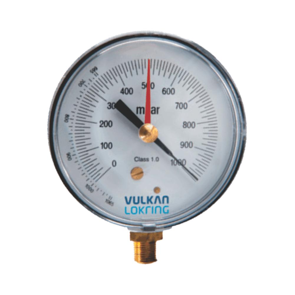 Vacuômetro Analógico Adaptador Vulkan Refrigeração Cata Vento