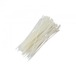Abraçadeiras de Nylon para Lacre 4,0mm x 200mm  - Branca (100 Unidades)