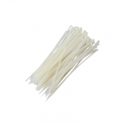 Abraçadeiras brancas de nylon para lacre 5 mm x 200 mm - phenom