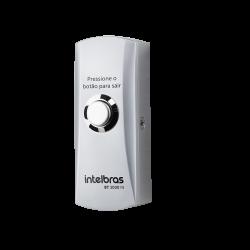 Acionador de Saída Inox Sobrepor c/ Caixa Intelbras BT 3000 IN