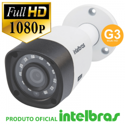 Câmera Intelbras Bullet Multi HD 1220B G3 Full HD (2.0MP | 1080p | 3.6mm | Plast)
