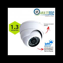 Câmera Multitec Dome AHD-M 1.3 Megapixel Externa Alta Definição (1.3MP | 960p | 2.8mm | Metal)