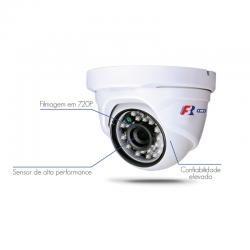 Câmera FBR Focusbras Dome Flex HD FS-PDF1M Alta Definição (1.0MP   720p   2.8mm   Plast)