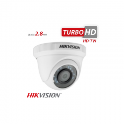 Câmera Hikvision Dome HD-TVI Turbo HD (1.0MP | 720p | 2.8mm | Plast)