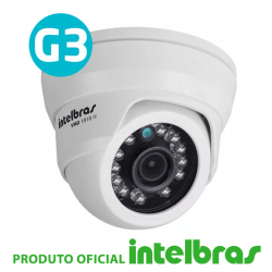 Camera dome vmd 1010 ir g3 1.0 mega pixel- intelbras