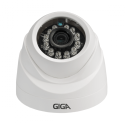 Câmera Giga GS0011 Dome Open HD 720P Plus IR 20M UTC DWDR (1.0MP | 720p | 2.6mm | Plast)