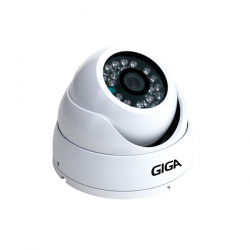 Câmera Giga GS0015 Dome Open HD Plus IR 30M IP66 (1.0MP | 720p | 2.6mm | Metal)