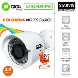 Câmera Giga GS0052 Bullet Open HD Sony Starvis IR WDR 30M 4MM IP66 Full HD (2.0MP | 1080P | 2.8mm | Metal)