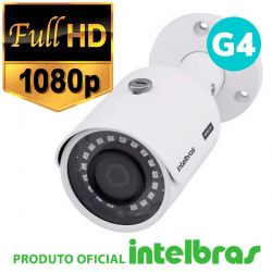 Câmera Intelbras Bullet Multi HD 3230B G4 Full HD (2.0mp | 1080p | 3.6mm | Metal)