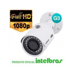Câmera Intelbras Bullet Multi HD 3230B G3 Full HD (2.0mp | 1080p | 3.6mm | Metal)