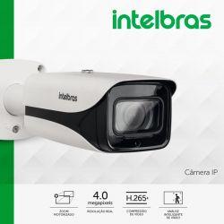 Câmera Intelbras IP VIP 5450 Z G2 - Bullet 4 MP, zoom de 5X (lente motorizada de 2.7 ~ 13,5mm), ajuste auto de foco, POE, IR inteligente de 50 mts