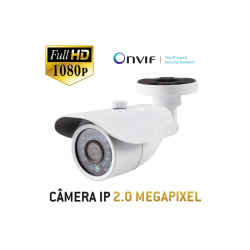 Câmera Multitec Bullet IP Onvif 2.0 - Full HD - 2.0 Megapixel