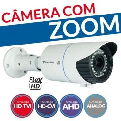 Câmera Tecvoz Varifocal com Zoom Flex HD CCB-10v (1.0MP | 720p | 2.8mm~12mm | Metal)