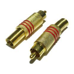 Conector RCA Dourado Macho