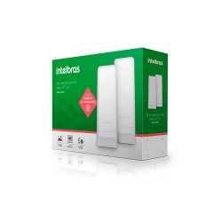 Conjunto Roteador Intelbras Wireless Wom 5A MImo 16dbi 5GHz
