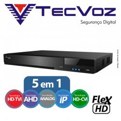 Dvr 16 canais stand alone tecvoz flex 5 em 1 hd-tvi / ahd / cvbs / ip / hd-cvi