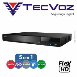 Dvr 4 canais stand alone tecvoz flex 5 em 1 hd-tvi / ahd / hd-cvi /cvbs / ip