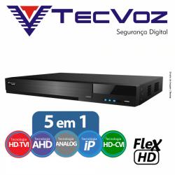 Dvr 8 canais stand alone tecvoz flex 5 em 1 hd-tvi / ahd / cvbs / ip / hd-cvi