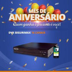 DVR Segurimax 16 Canais 5 em 1 Multifunções