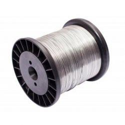Fio Aço Inox Para Cerca Elétrica Rolo 0,45mm