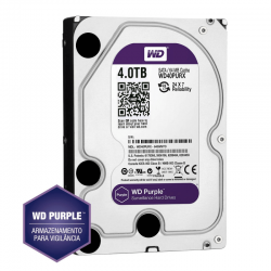 Hd western digital purple 4tb - ideal para intelbras