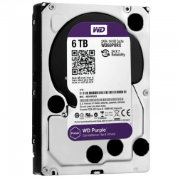 Hd western digital purple 6tb - ideal para intelbras