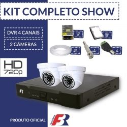 Kit 4 canais super flex Focusbras completo - 2 câmeras internas - HD