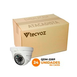 Kit Câmeras Tecvoz Dome Flex HD QDM-228P Full HD (2.0MP | 1080p | 2.8mm | Plástico)