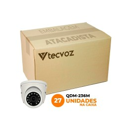 Kit Câmeras Tecvoz Mini Dome Flex HD QDM-236M Full HD (2.0MP | 1080P | 3.6mm | Metal)