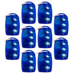 Kit com 10 - Controle Remoto Transmissor RF Linear TX 3TB - Azul