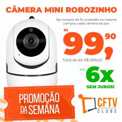 Kit com 10 MiniCâmera Robozinha IP Sem Fio Wireless HD - Alta Definição