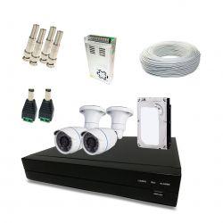 Kit Completo de CFTV Segurimax com 2 Câmeras Bullet