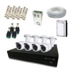 Kit Completo de CFTV Segurimax com 4 Câmeras Bullet