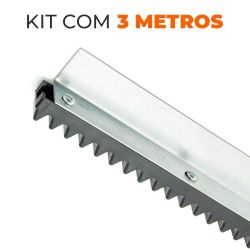 Kit Cremalheira Universal para Portões Dz - 3 metros