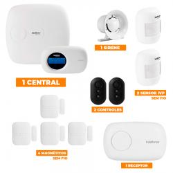 Kit de Alarme Intelbras 1-Central AMT 2018E c/ 6-Sensores com Monitoramento por Aplicativo via Internet sem fio