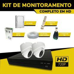 Kit de CFTV Completo Econômico em HD Filmagens Internas
