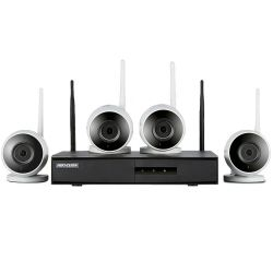 Kit De Monitoramento Hikvision Nvr 4b Wifi - 4 Câmeras Bullet+ 1 Nvr Wifi Hd 1tb - NK4W0-1T (Tb)