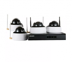 Kit de Monitoramento NVR 4D Wi-fi - 4 Câmeras DOME, 1 NVR Wi-fi com HD 1TB