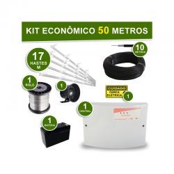 Kit Econômico completo Cerca Elétrica 4 Fios - para 50 Metros