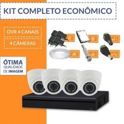 Kit Econômico Completo com 4 Câmeras Internas