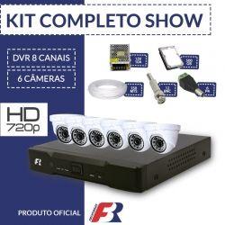 Kit Fbr Focusbras Completo em Alta Definição - 6 câmeras internas HD