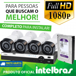 Kit Full Hd Intelbras 4 Canais - 1080p - completo