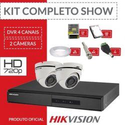 Kit Hikvision Completo em Alta Definição - com 2 Câmeras Internas HD