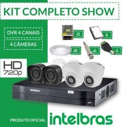 Kit Intelbras completo alta definição - 4 câmeras int/ext - HD