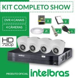 Kit Intelbras Completo Alta Definição - 4 Câmeras Internas - HD