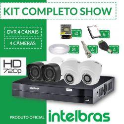Kit Intelbras Completo alta definição - 4 câmeras Interno/Externo - HD
