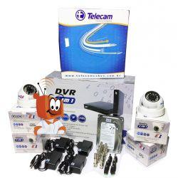 Kit Monitoramento Fácil CFTV com 4 Câmeras HD Completo - Acesso via Celular
