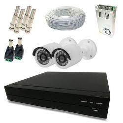 Kit Monitoramento Fácil HD - 2 Câmeras Externas 720p HD