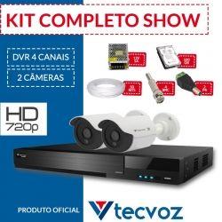 Kit Tecvoz Completo em Alta Definição - 2 câmeras HD